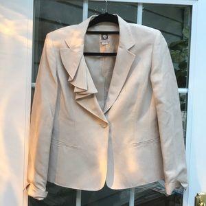Anne Klein linen cream suit